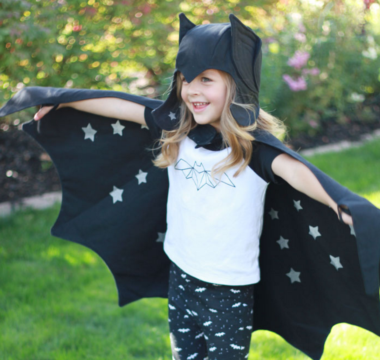 with brave wings she flies...spooky bat costume