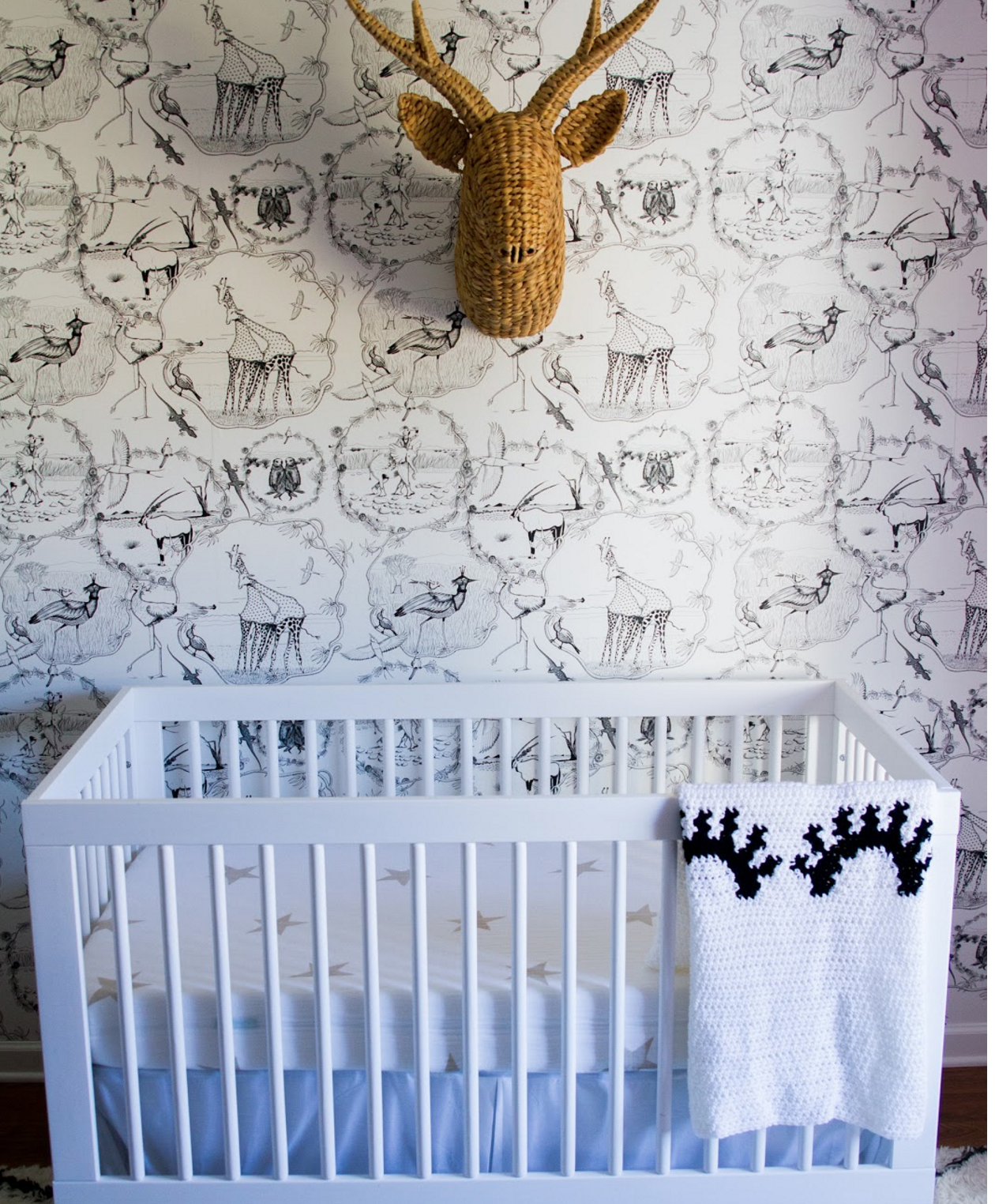 modern vintage gender neutral nursery