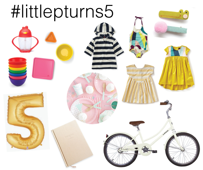 CLOSED...Winner announced here...  Little p just turned 5 and we are celebrating with a special giveaway for 1 LUCKY Mama and her little!  The winner will receive prizes + shop credits to little p's favorite brands  including their choice of an awesome beach cruiser from Linus bike...with or without training wheels!  ENTER NOW...hurry giveaway ending soon....