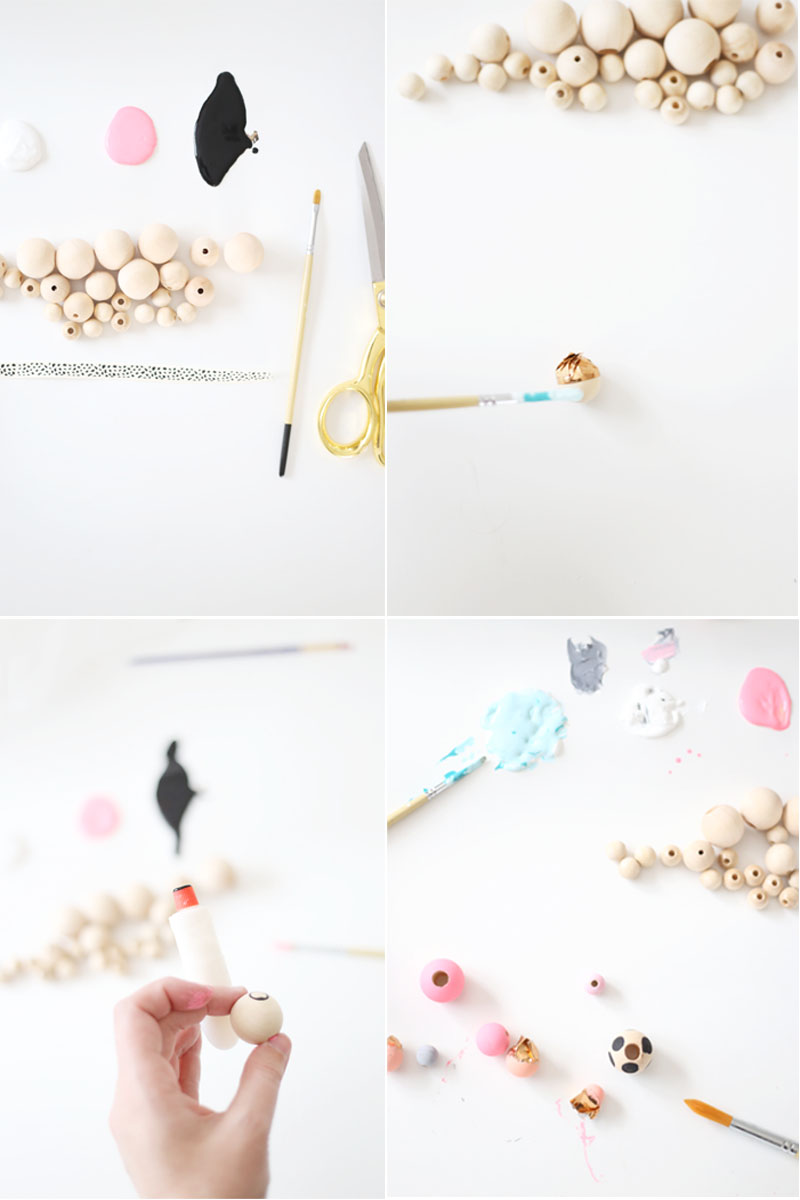 DIY kids mini bead necklace