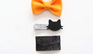 little crafts….Modern Hairclips DIY
