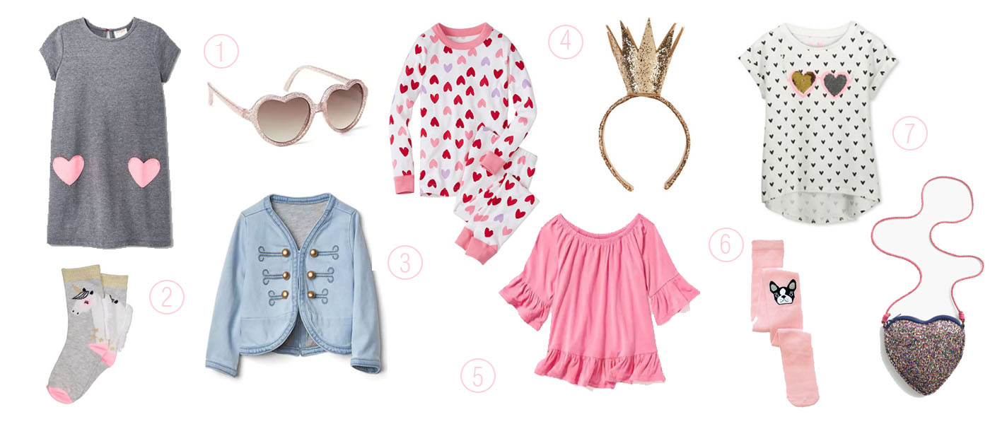 heart inspired fashion for your little lady