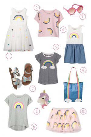 Rainbow inspired fun for your little ladies!