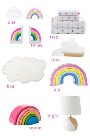 Rainbow inspired Room decor
