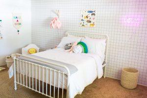 Girls Modern Scandinavian Style Room Reveal + Giveaway