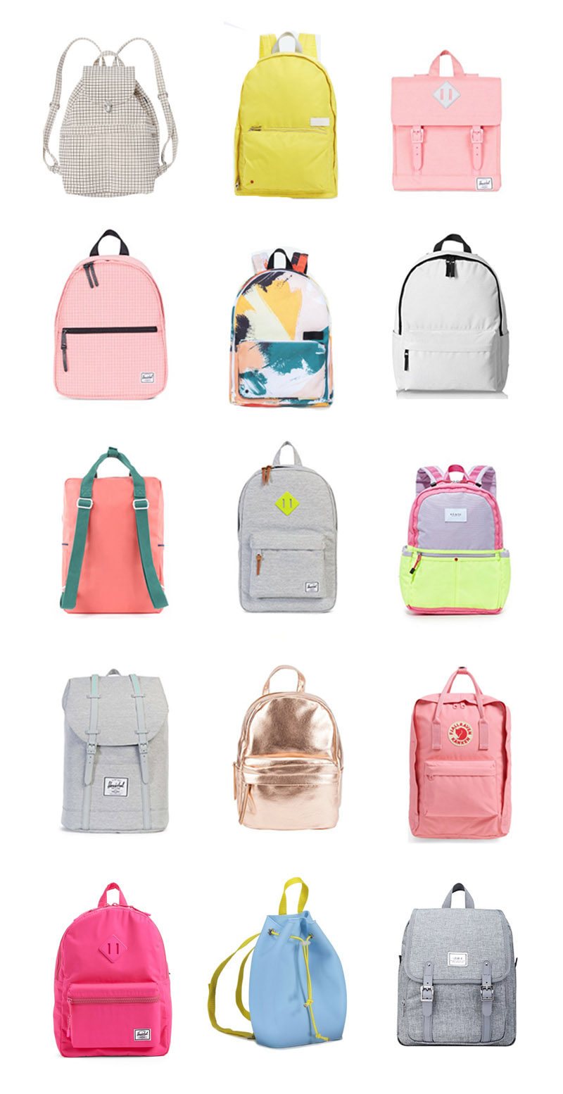 15 favorite bACK PACKS  for back to school