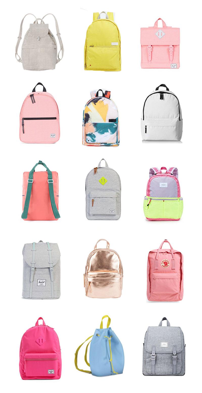 15 favorite bACK PACKS  for back to school