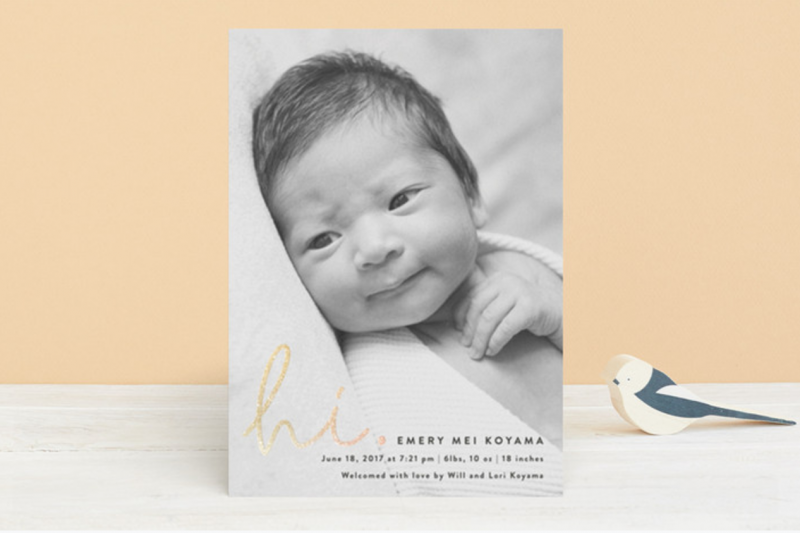 on trend birth announcements