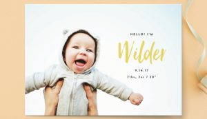 On Trend Baby Announcements…Favorite Styles for  2017
