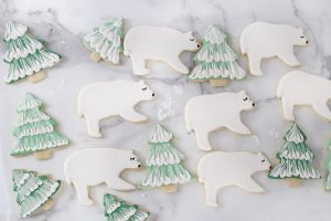 Winter Polar Bear Sugar Cookie Fun