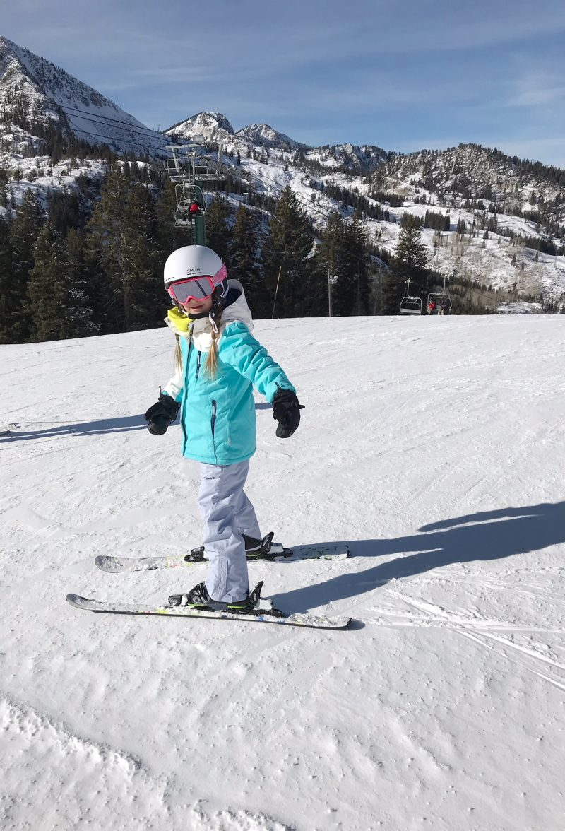 skiing with family at brighton resort