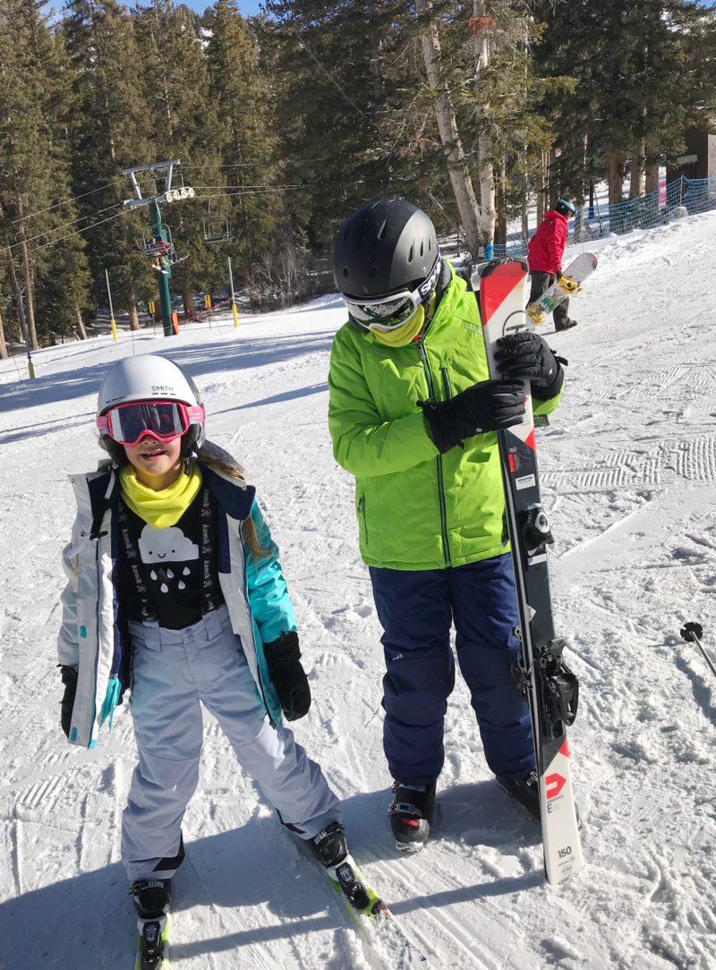 skiing with family at brighton resort + kamik apparel