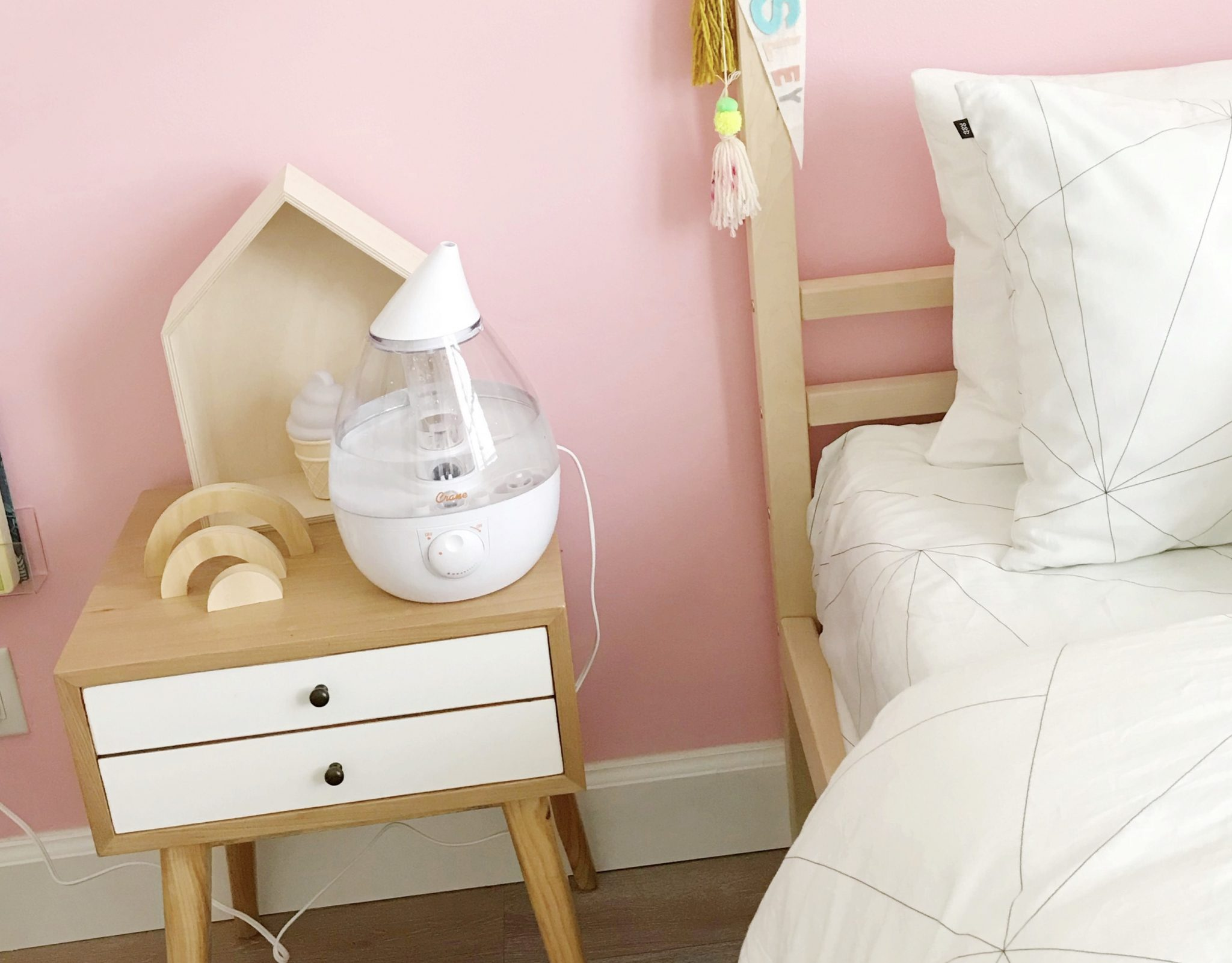 cold and flu must haves with crane drop humidifiers