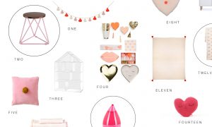 Valentine inspired decor for the littles