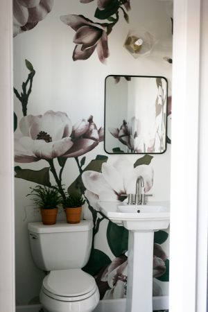 Family Abode: 1/2 Bath…small space big impact