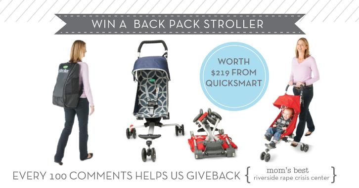 Win a QuickSmart Back Pack Stoller