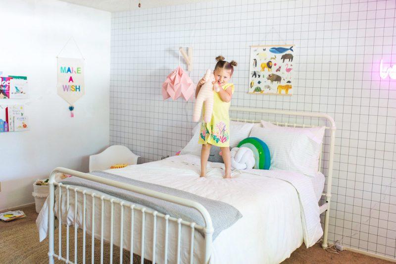 girls modern scandi-style room