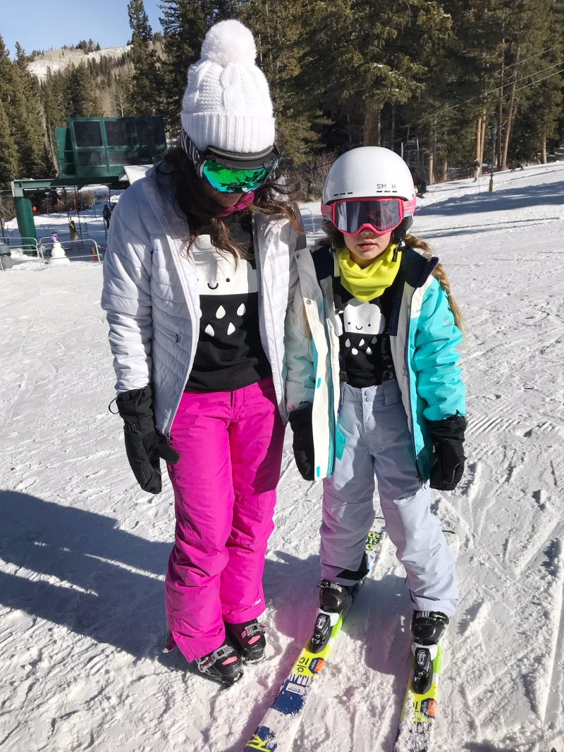 skiing with family at brighton resort and kamik apparel