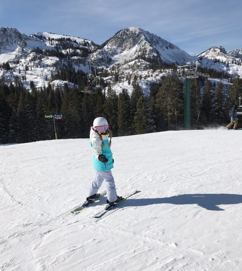 skiing with family at brighton resort + kamik apparel